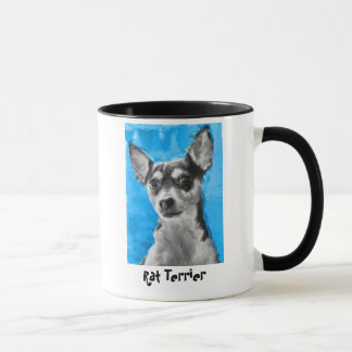 Rat Terrier, Modern Dog Art Mug