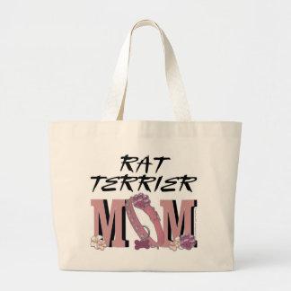 Rat Terrier MOM Jumbo Tote Bag