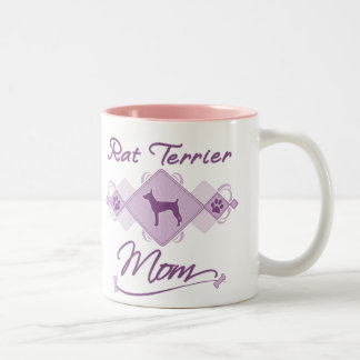 Rat Terrier Mom Two-Tone Coffee Mug