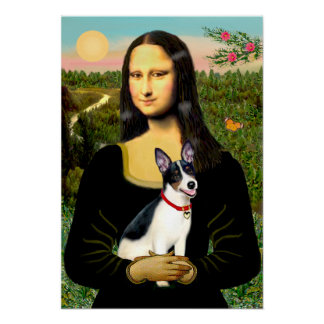 Rat Terrier - Mona Lisa Poster