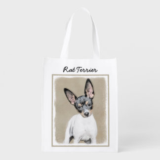 Rat Terrier Reusable Grocery Bag