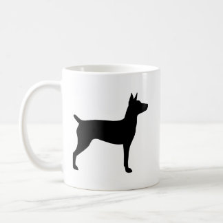 Rat Terrier Silhouettes Coffee Mug