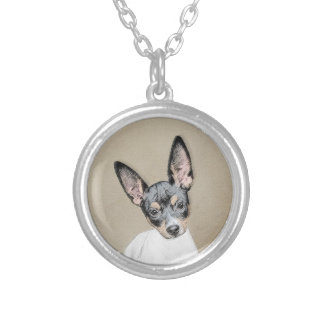 Rat Terrier Silver Plated Necklace