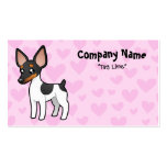 Rat Terrier / Toy Fox Terrier Love Pack Of Standard Business Cards