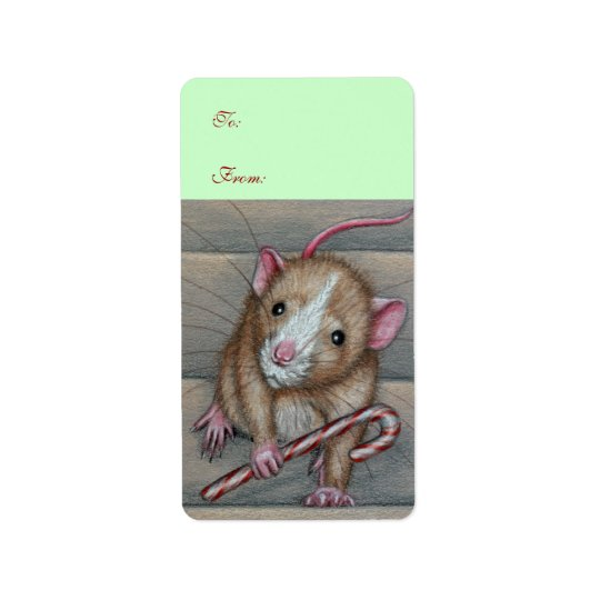 Rat To From Gift Tag Avery Label