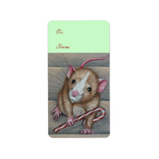 Rat To From Gift Tag Avery Label Address Label
