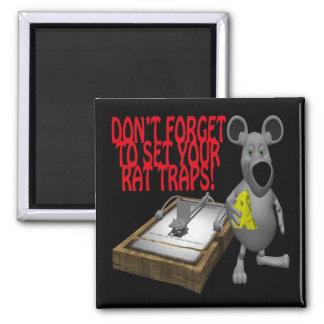 Rat Traps Fridge Magnet