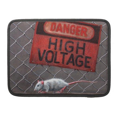 Rat under Danger High Voltage Sign MacBook Pro sle Sleeves For MacBook Pro