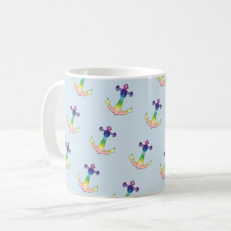 rate coffee multicoloured anchor coffee mug