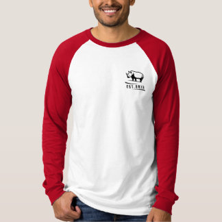 Rate Rhino Red Baseball T T-Shirt