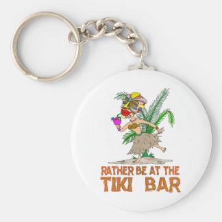 Rather be at the Tiki Bar GODDESS Basic Round Button Key Ring