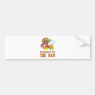 Rather be at the Tiki Bar TIKI Mask Bumper Sticker