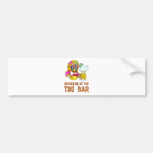 Rather be at the Tiki Bar TIKI Mask Bumper Stickers