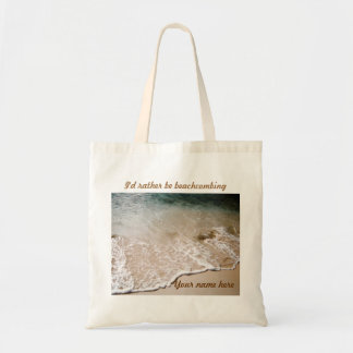 Rather be Beachcombing Name tote