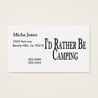 Rather Be Camping Business Card