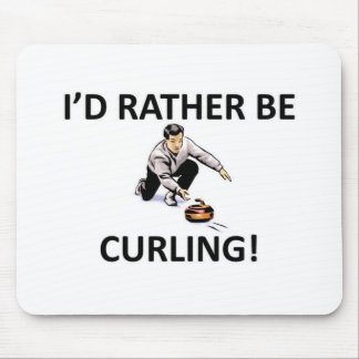 Rather be curling mouse pad