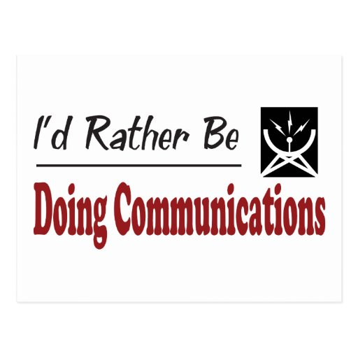 Rather Be Doing Communications Post Cards
