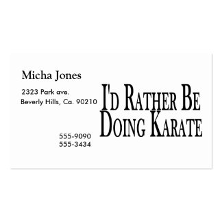 Rather Be Doing Karate Pack Of Standard Business Cards