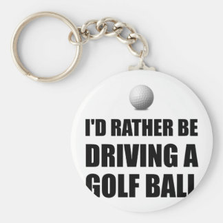 Rather Be Driving Golf Balls Basic Round Button Key Ring
