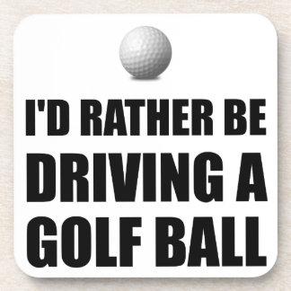 Rather Be Driving Golf Balls Coaster