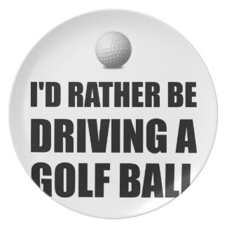 Rather Be Driving Golf Balls Party Plate