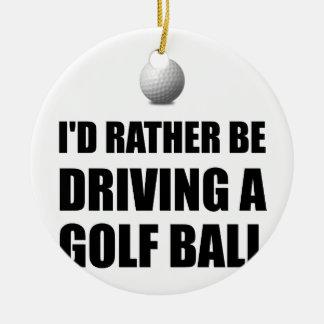 Rather Be Driving Golf Balls Round Ceramic Decoration