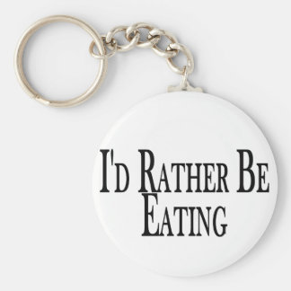Rather Be Eating Key Ring