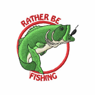 Rather Be Fishing Embroidered Hoodie