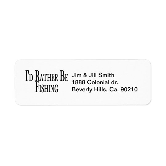 Rather Be Fishing Return Address Label