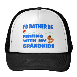 Rather Be Fishing With Grandkids Trucker Hat