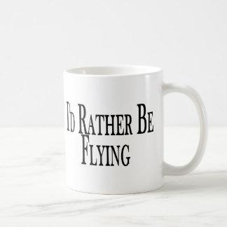 Rather Be Flying Basic White Mug