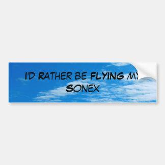 Rather be flying Sonex Bumper Sticker