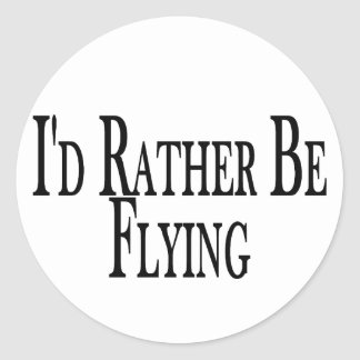 Rather Be Flying Stickers