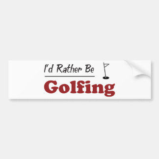 Rather Be Golfing Bumper Stickers
