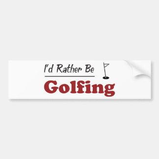 Rather Be Golfing Bumper Sticker