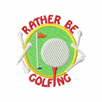 Rather Be Golfing Embroidered Hoody