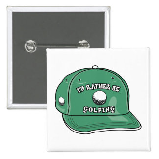 rather be golfing hat graphic pin