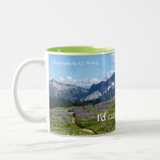 Rather be Hiking (Tatoosh Range) Two-Tone Coffee Mug