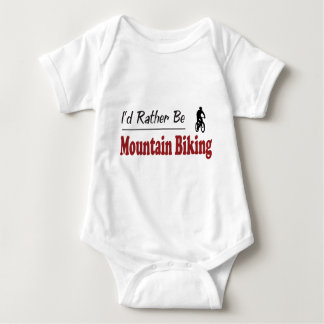 Rather Be Mountain Biking Baby Bodysuit