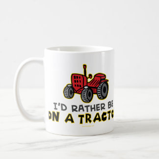 Rather Be On A Tractor Basic White Mug