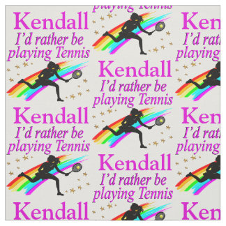 RATHER BE PLAYING TENNIS PERSONALIZED FABRIC