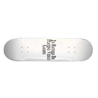 Rather Be Playing Video Games 18.1 Cm Old School Skateboard Deck