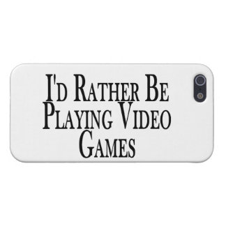 Rather Be Playing Video Games iPhone 5 Cases