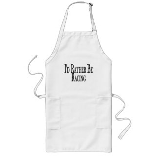 Rather Be Racing Long Apron
