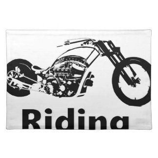 Rather Be Riding w daddy Placemat