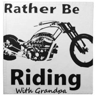 Rather Be Riding w grandpa Napkin