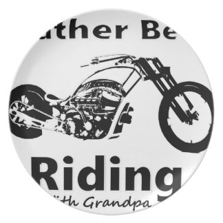 Rather Be Riding w grandpa Plate