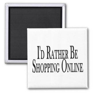 Rather Be Shopping Online Fridge Magnet