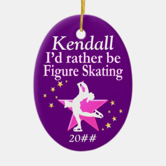 RATHER BE SKATING PERSONALIZED ORNAMENT