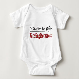 Rather Be Watching Motocross Baby Bodysuit